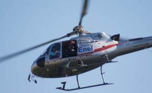 elettricità elicottero enel energia cronaca