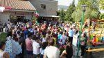 Inaugurata l'altalena per bambini con disabilità motorie al Parco dei Tigli di San Mariano