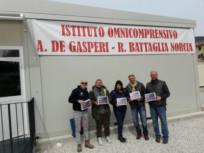 amministrazione donazione l'unanuova norcia scuola tablet terremoto corciano-centro cronaca ellera-chiugiana