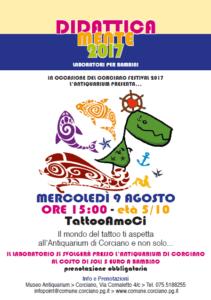 antiquarium bambini corciano festival laboratorio tatoo corciano-centro eventiecultura