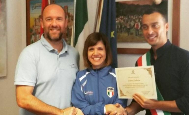 L'atleta Marta Ciabatta ricevuta in Comune. L'orgoglio degli amministratori