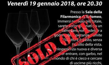 """È sold out la """"Cena al buio"""" del 19 gennaio a Solomeo: ecco le prossime date disponibili"""