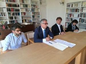 IMG 20180521 112636 300x225 - Ricostruzione: la Fondazione Cucinelli restaura anche il Teatro di Norcia