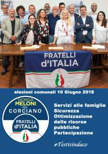 gruppo 212x300 - Elezioni a Corciano: presentata la lista di Fratelli d'Italia per Franco Testi