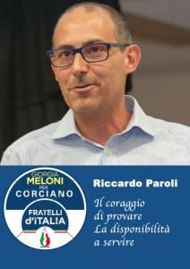 riccardo p 212x300 - Elezioni a Corciano: presentata la lista di Fratelli d'Italia per Franco Testi