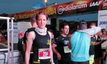 I L'Unatici a Valencia con la portacolori Mirela Laura Dascalu