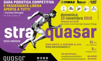 Straquasar: benessere, prevenzione e solidarietà protagoniste del prossimo week-end a Ellera di Corciano