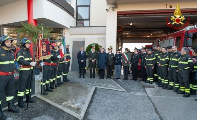 I Vigili del fuoco del comando provinciale hanno celebrato la patrona Santa Barbara