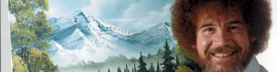 """This undated image released by Copyright Bob Ross Inc./The Joy of Painting, shows the late Bob Ross, host of the PBS series """"The Joy of Painting."""" PBS said Thursday it's posted a video remix with clips from """"The Joy of Painting"""" instructional series, featuring the late Bob Ross. The """"Happy Painter"""" remix is from John Boswell, who created the """"Garden of Your Mind"""" video tribute to Fred Rogers. That mashup of clips from """"Mister Rogers' Neighborhood"""" has been viewed nearly 6 million times on YouTube. """"The Joy of Painting,"""" still seen in repeats, aired on PBS from 1983 to 1994 with its bushy-haired, mellow-voiced host. Ross died in 1995. (AP Photo/Copyright Bob Ross Inc. Æ The Joy of Painting)"""