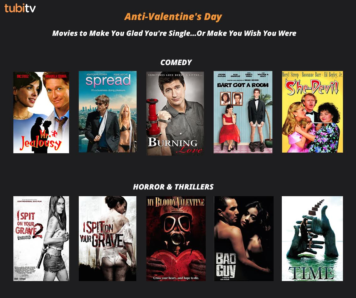 10 FREE Anti Valentineu0027s Day Movies To Get Your Through The Holiday