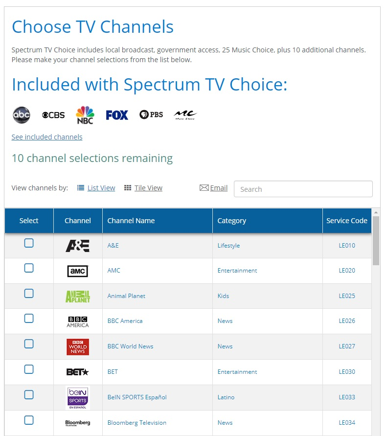 image relating to Spectrum Channel Lineup Printable identify Spectrums A La Carte Television Streaming Bundle At present Promotions A 7