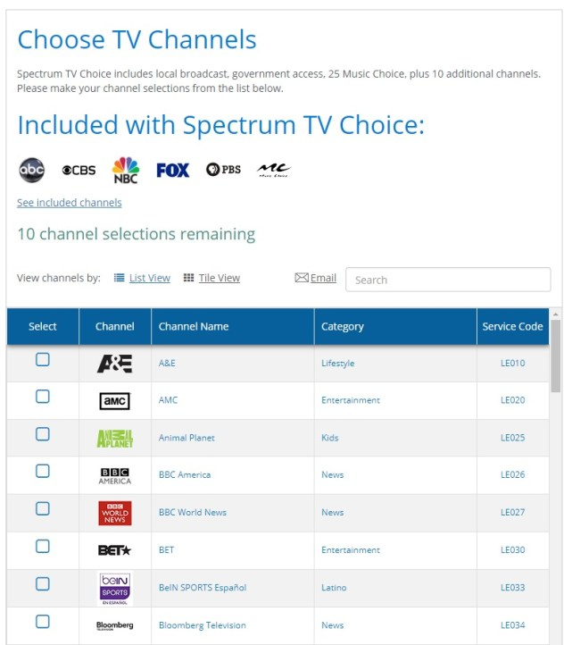 Spectrum's A La Carte TV Streaming Package Now Offers A 7