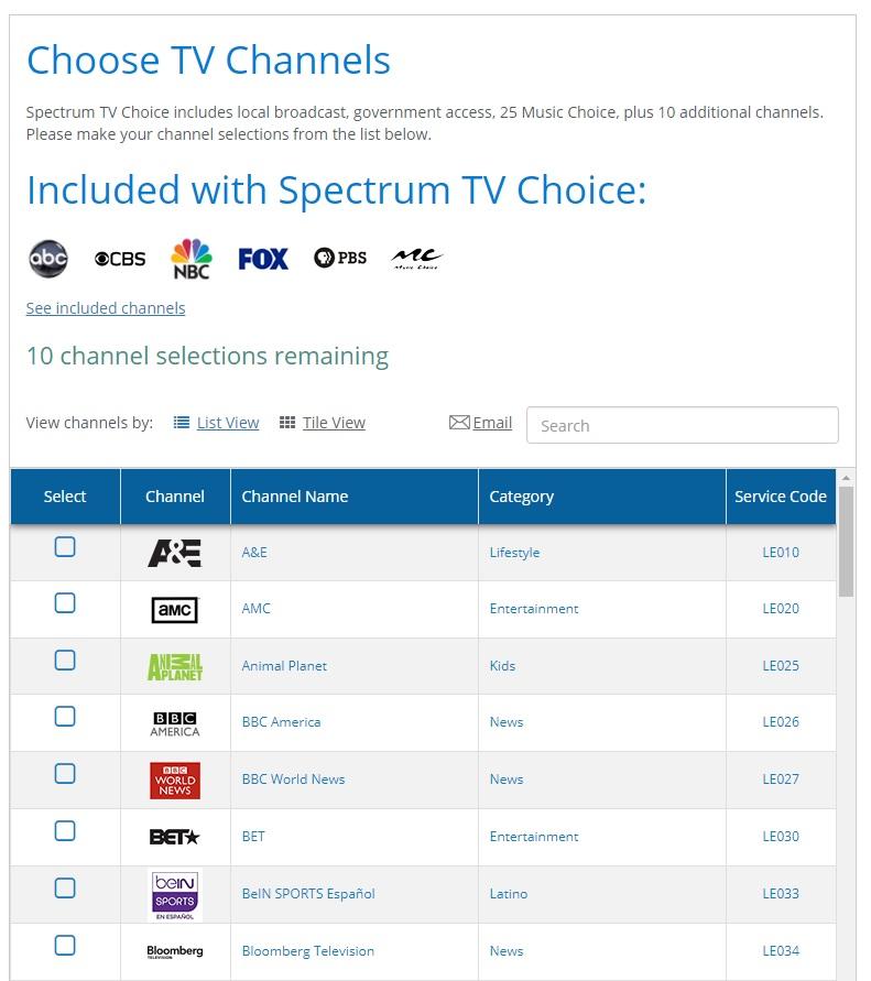 Spectrum TV CHannels A La Carte - Cord Cutters News