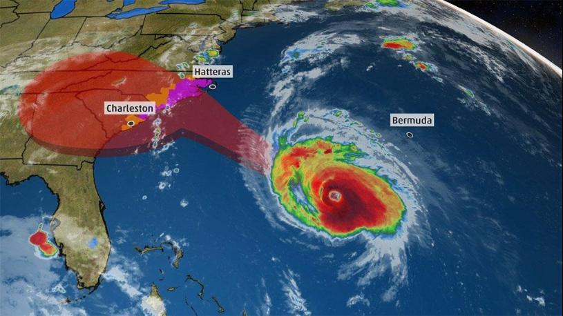 Watch live streaming video of Hurricane Florence rolling into North Carolina