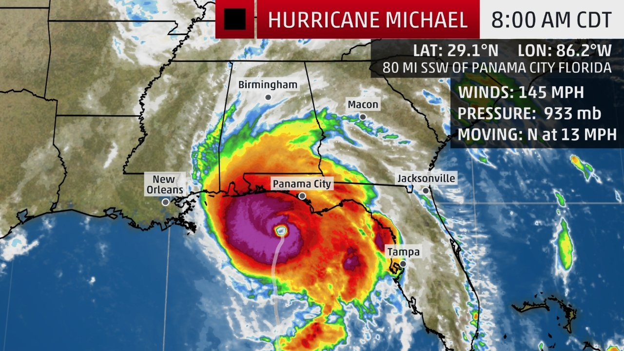 the weather channels coverage of hurricane michael is now