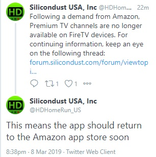 Amazon Reportedly Demanded SiliconDust Remove the HDHomeRun