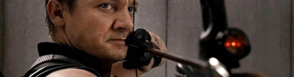 hawkeye with bow and arrow