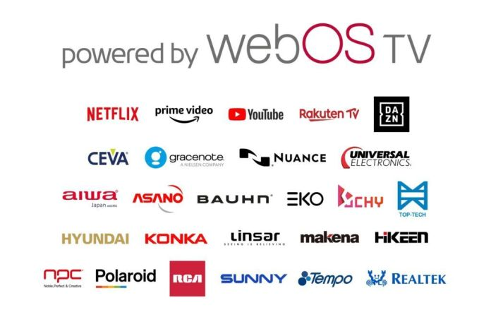 A list of webOS partners