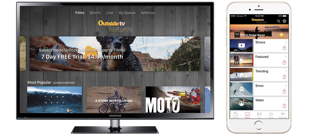 Outside TV Available On Apple TV, Roku, Amazon Fire TV, Chromecast, Android, & iOS