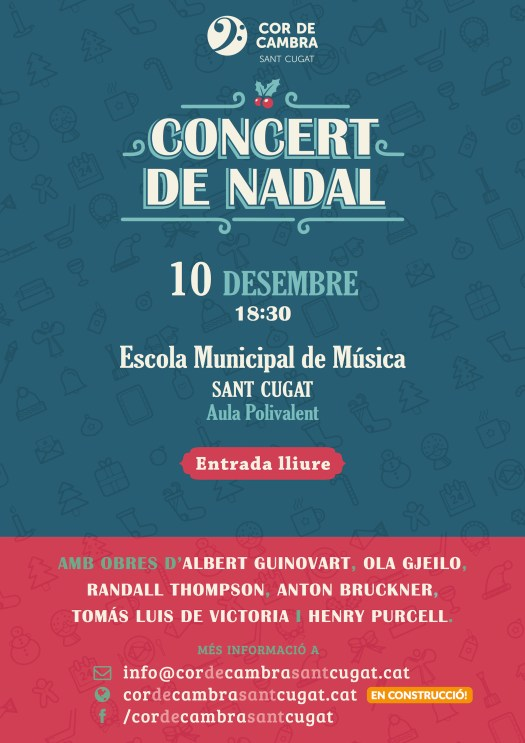 Cartell Concert de Nadal (Sant Cugat)