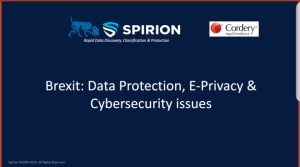 The UK Post Brexit webinar – Data Protection, E-Privacy & Cybersecurity Challenges Ahead