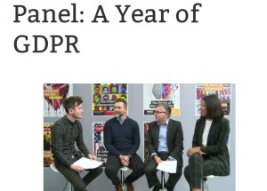 Client Alert:  Live at #Infosec19 – A year of GDPR