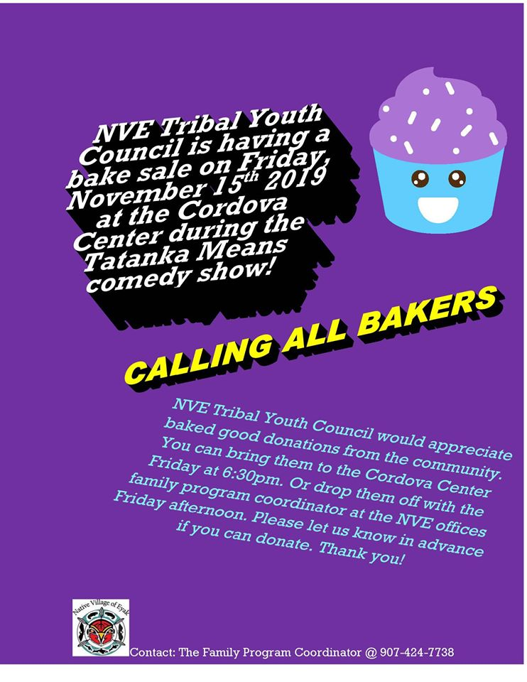 NVE Tribal Youth Council Bake Sale