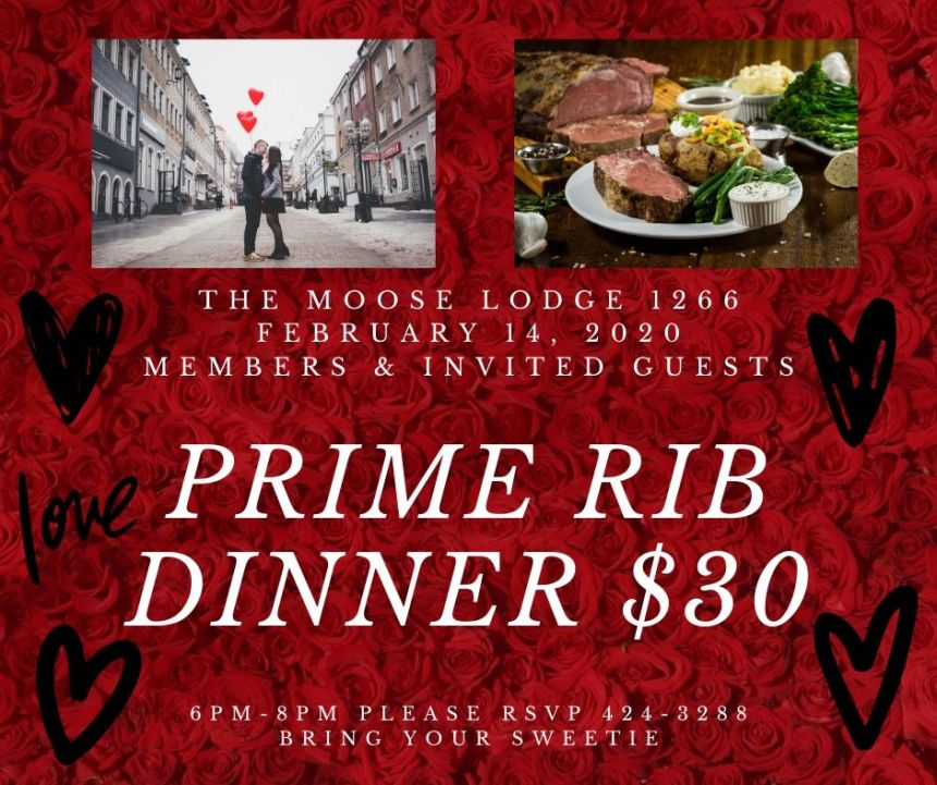 Prime Rib Dinner @ the Moose Lodge