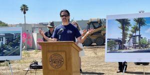 News conference discussing the Santa Clara Urban farm