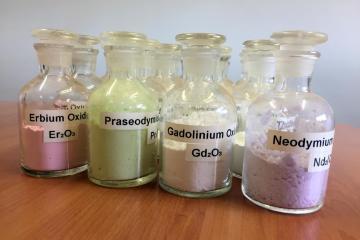 Rare Earth Minerals in Jars