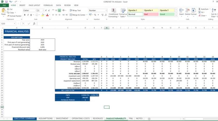CFAM Financial Analysis