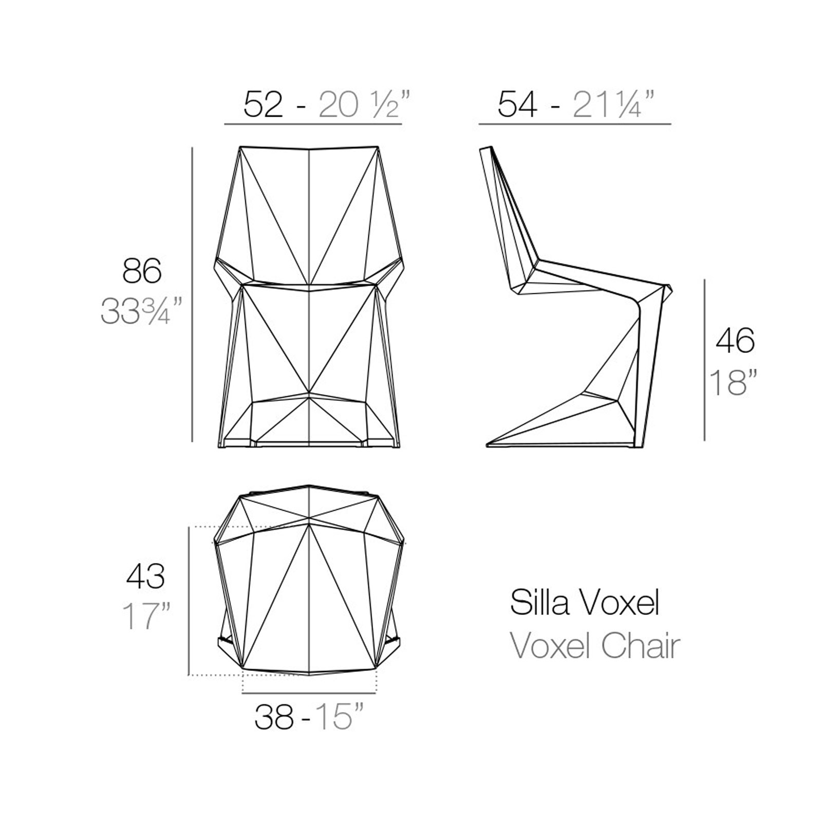 Voxel Dining Chair By Vondom