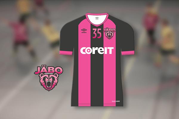 Matchtröja svart och rosa JÄBO IK