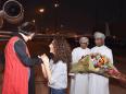 Prof. Homa Hoodfar greeted by niece Amanda Ghahremani after landing in Oman Sept 26