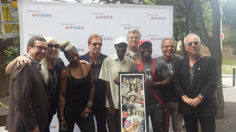 Toronto music legends at mural launch on Aug. 17