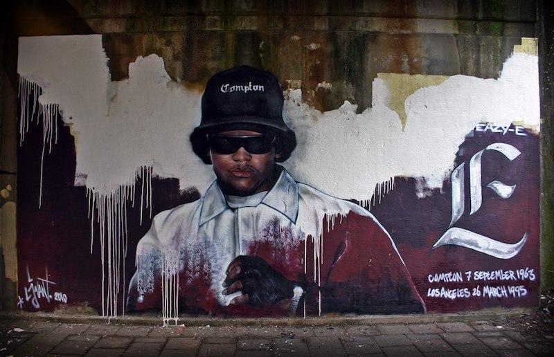 Memorial Eazy-E made_by_streetartist_LJvanT_@_Leeuwarden_the_Netherlands