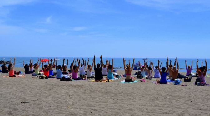 Yoga on the Beach is a Frantastic form of energy exchange