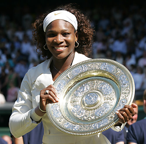 SWilliams Wimbledon Trophy 2009