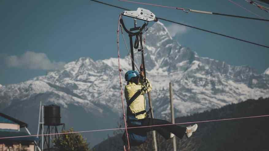 zip flyer (adventure sports in Nepal)