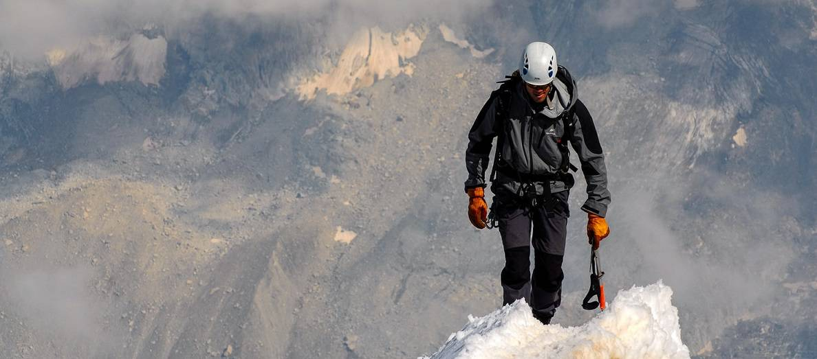 interesting hikers on Mount Everest