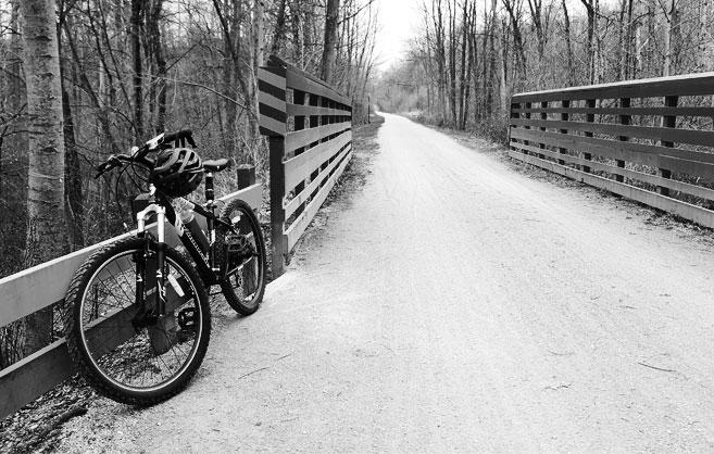 bike on paintCreekTrail