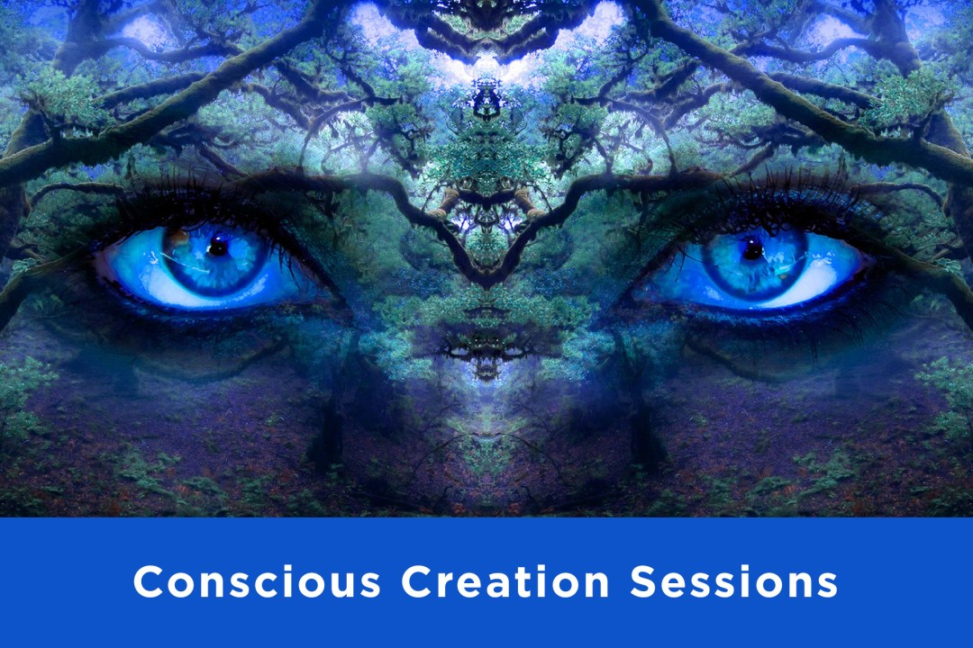 Conscious Creation Sessions service thumbnail picture of forest with eyes
