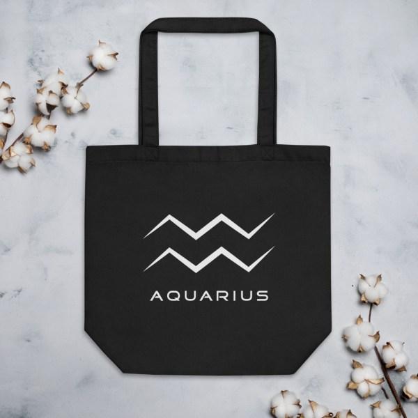Sci-fi zodiac collection Aquarius eco tote bag front
