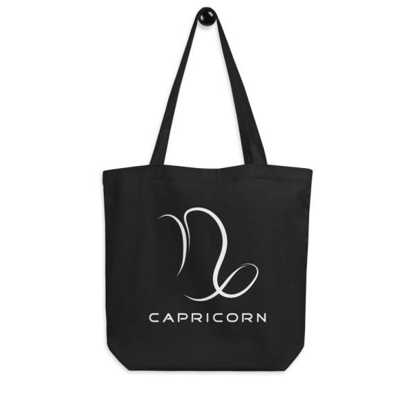 Sci-fi zodiac collection Capricorn eco tote bag hanging