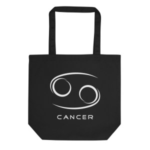 Sci-fi zodiac collection Cancer eco tote bag front