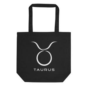 Sci-fi zodiac collection Taurus eco tote bag front