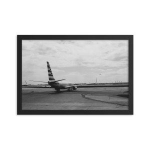"""""""Ready for Takeoff"""" 12x18 framed poster print with black frame"""