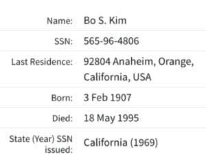 Bo S Kim grandmother
