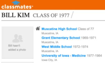 Bill Hoon Kim high school Muscatine Iowa