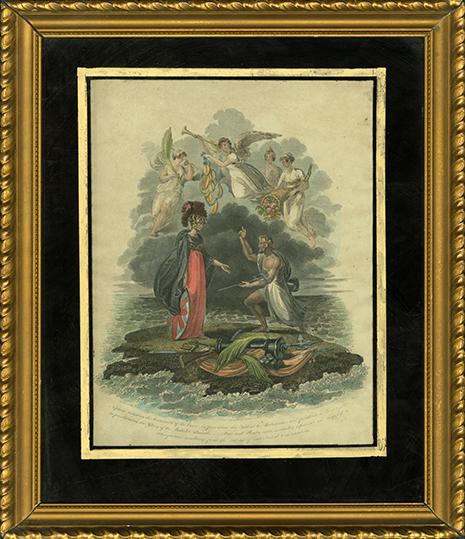 Britannia receiving Neptune's Trident